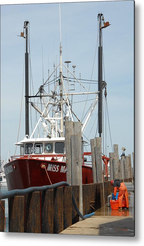Commercial Fishing Boats Metal Print featuring the photograph Boat 34 by Joyce StJames