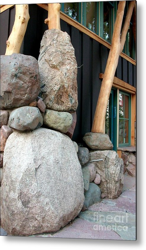Stone Metal Print featuring the photograph Boulder Art by The Stone Age