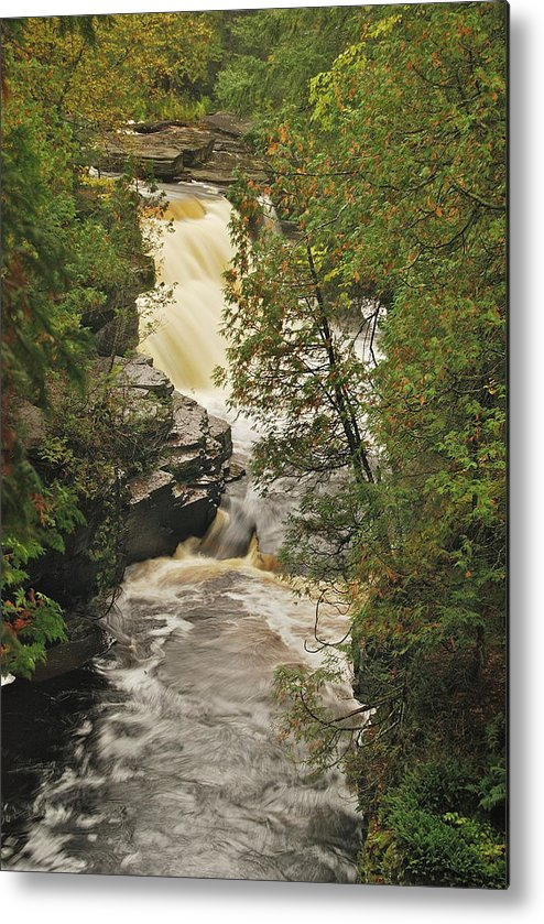 Michigan Metal Print featuring the photograph Canyon Falls 2 by Michael Peychich