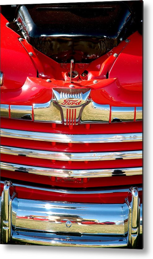 Cars Metal Print featuring the photograph Cherry Ford by Timothy Mangino