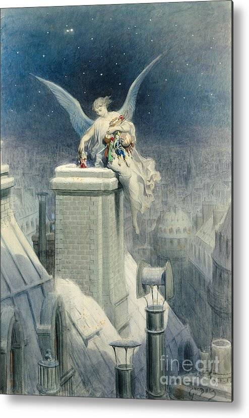Christmas Metal Print featuring the painting Christmas Eve by Gustave Dore