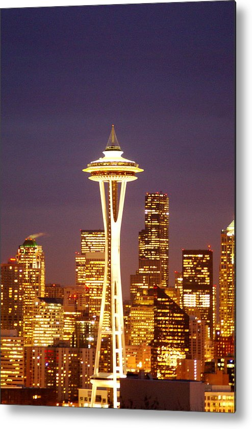 Urban Metal Print featuring the photograph City Lights by Sonja Anderson