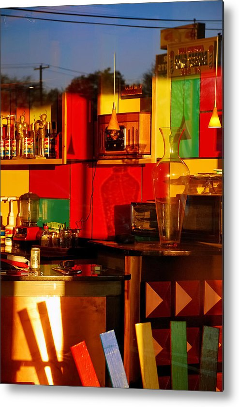 Skip Hunt Metal Print featuring the photograph Coffee Shop by Skip Hunt