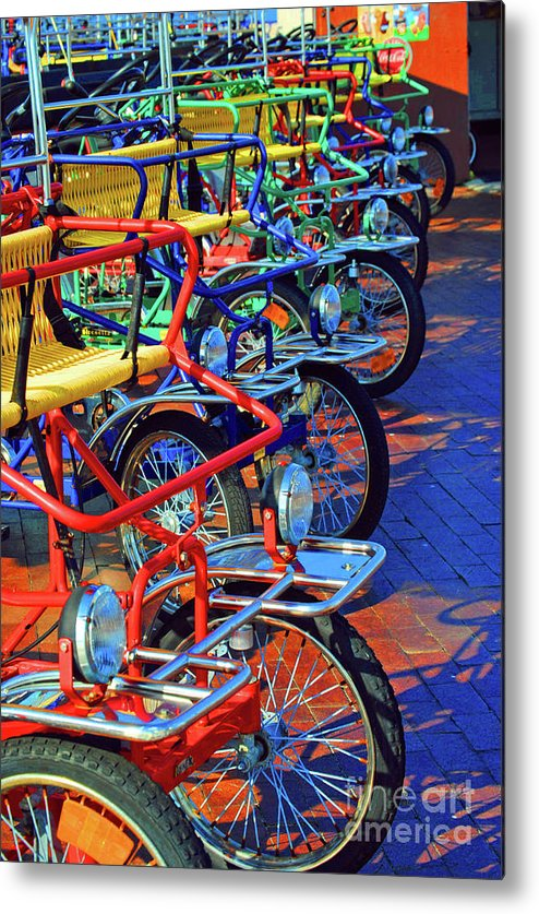 Bikes Metal Print featuring the photograph Color Of Bikes by Jost Houk