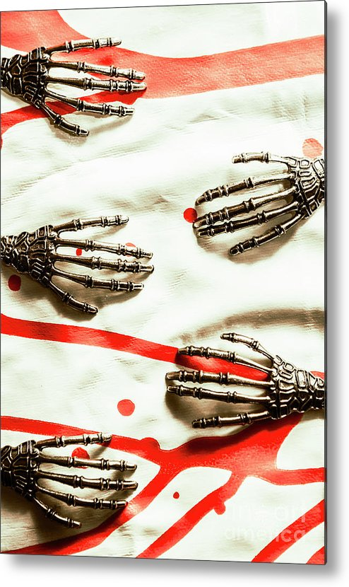 Skeleton Metal Print featuring the photograph Cyborg Death Squad by Jorgo Photography - Wall Art Gallery