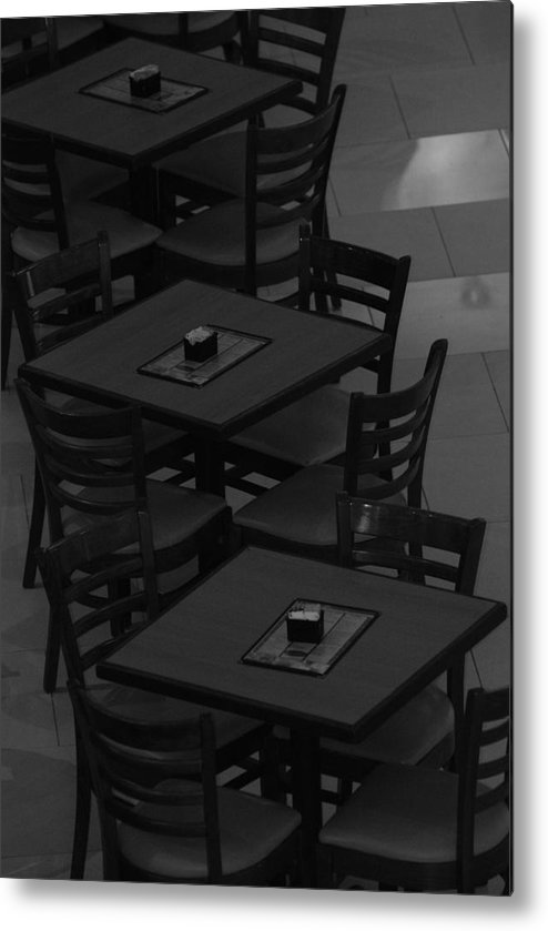 Tables Metal Print featuring the photograph Dark Tables by Rob Hans
