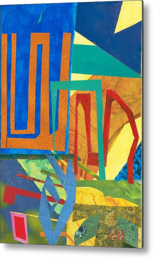 Abstract Art Metal Print featuring the mixed media Day Tripper by Jerry Hanks