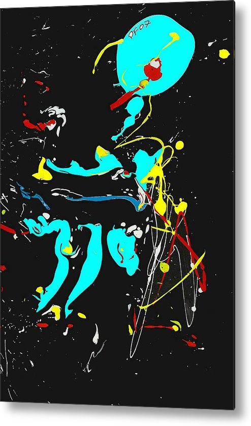 Abstract Metal Print featuring the painting Deep Waters by Paul Freidin