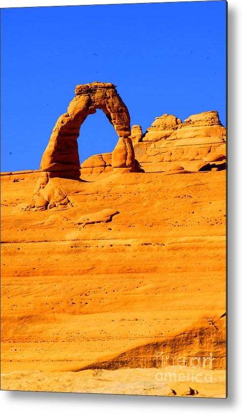 Arches Metal Print featuring the photograph Delicate Arch by Dennis Hammer
