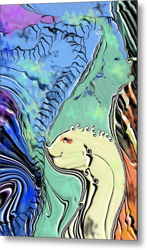 Fantasy Air Metal Print featuring the digital art Different Points Of View by Stephanie H Johnson