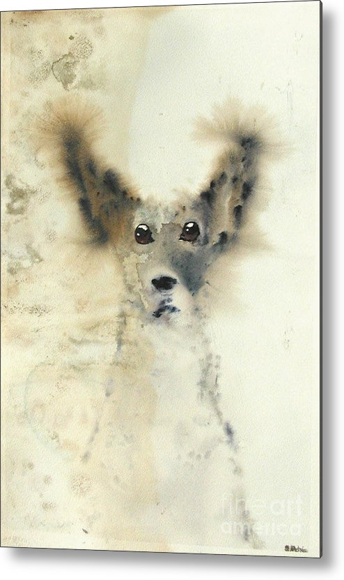 Dog Metal Print featuring the painting dog by Sarah Goodbread