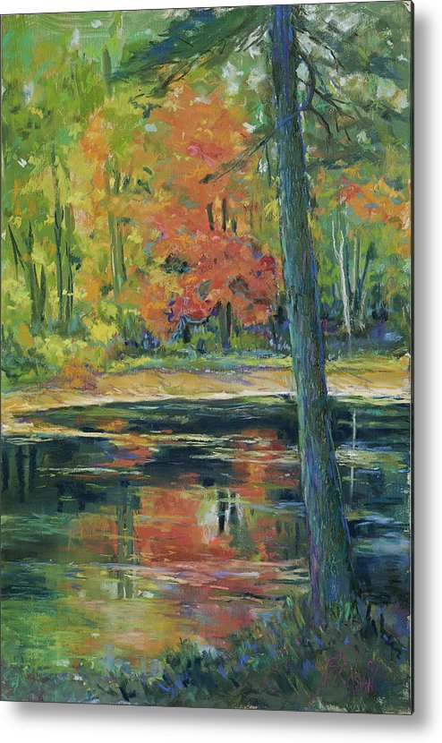 Fall Metal Print featuring the painting East Coast Autumn by Billie Colson