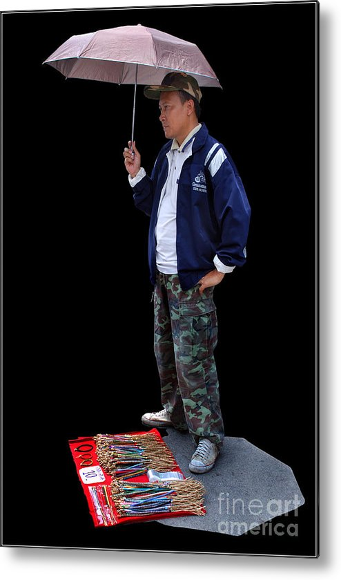 Market Sell Man Entrepreneur Metal Print featuring the photograph Entrepreneur by Ty Lee