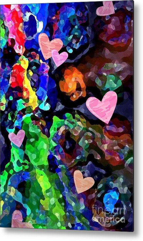 Hearts Metal Print featuring the photograph Falling In Love by Karen Marturello