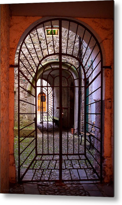 Gate Metal Print featuring the photograph Gated Passage by Tim Nyberg