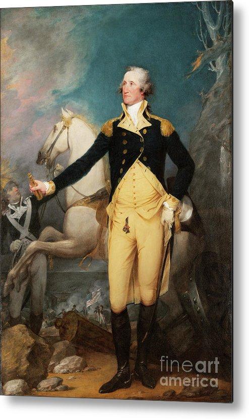 General George Washington Metal Print featuring the painting General George Washington At Trenton by John Trumball