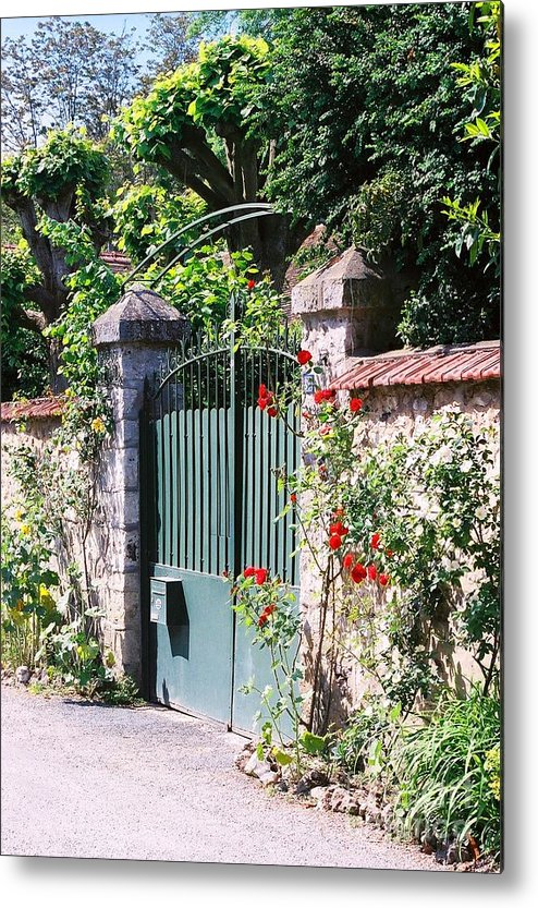 Giverny Metal Print featuring the photograph Giverny Gate by Nadine Rippelmeyer