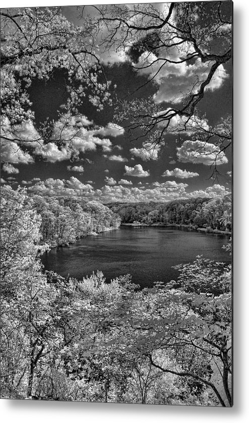 Infrared Metal Print featuring the photograph Glacier Lake by Michael McGowan
