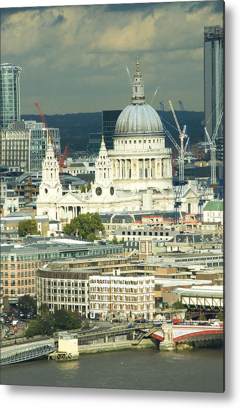 Thames River Metal Print featuring the photograph Grand View Of Central London by Charles Ridgway