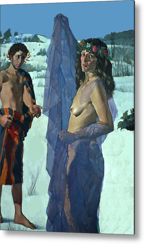 Greece Metal Print featuring the photograph Greek Adam And Eve by Carl Purcell
