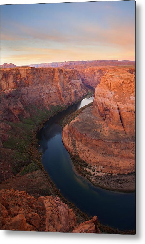 Horseshoe Bend Metal Print featuring the photograph Half Bend Sunrise by Mike Dawson