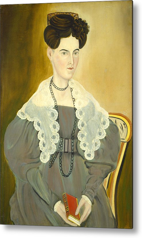 Art Metal Print featuring the painting Hannah Fisher Stedman by Asahel Powers