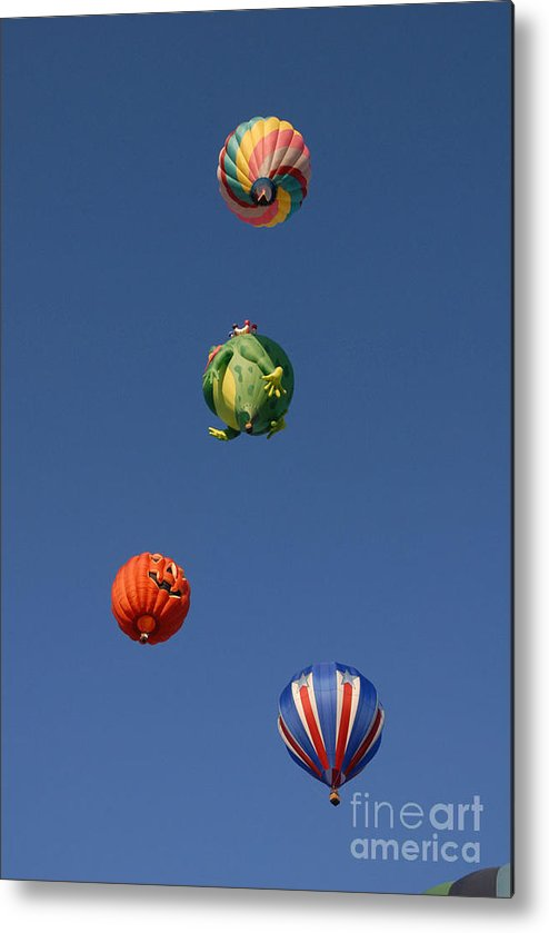 Hot Air Balloon Metal Print featuring the photograph Hot Air Rally by Dennis Hammer