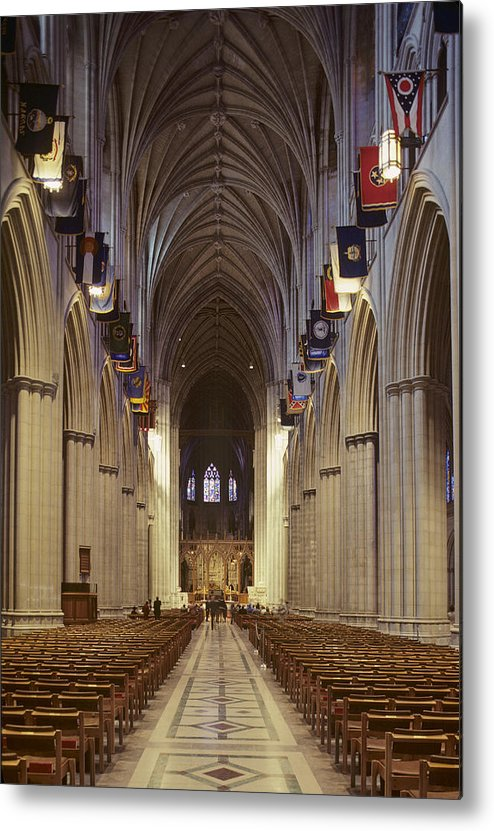 National Cathedral Metal Print featuring the photograph Interior Of The National Cathedral by Kenneth Garrett