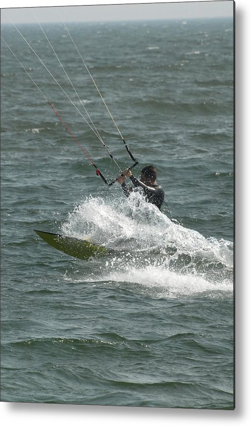 Kite Surfing Metal Print featuring the photograph Kite Surfing 21 by Joyce StJames