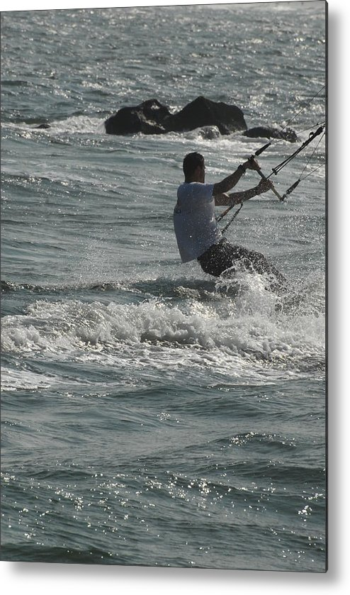 Kite Surfing Metal Print featuring the photograph Kite Surfing 23 by Joyce StJames
