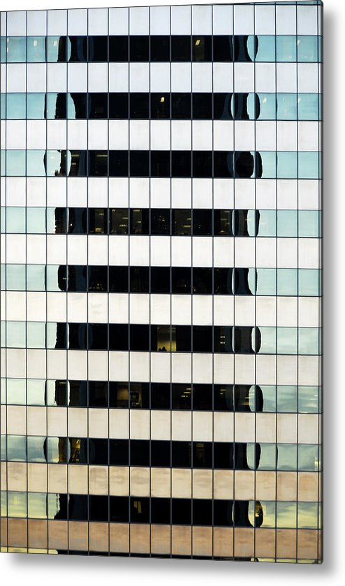 Windows Metal Print featuring the photograph Lines And More Lines by James Zuffoletto