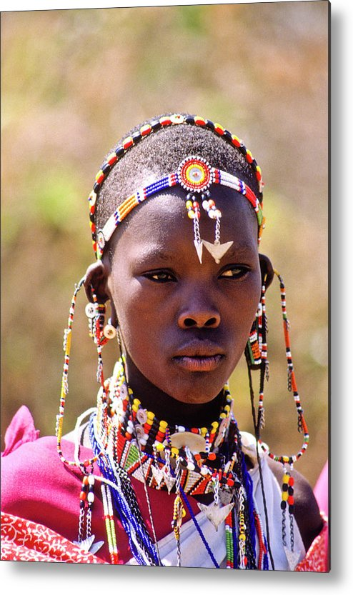Africa Metal Print featuring the photograph Maasai Beauty by Michele Burgess