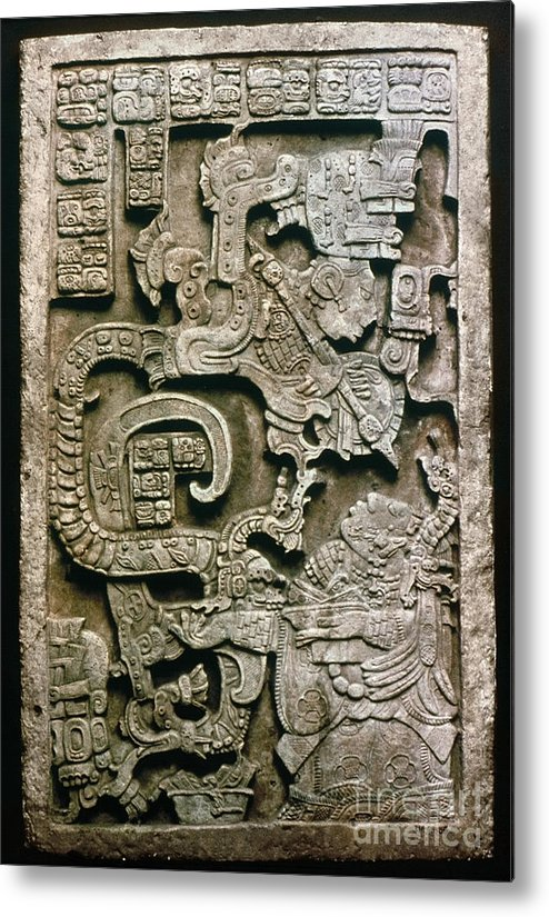 681 Metal Print featuring the photograph Mayan Glyph by Granger