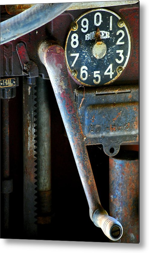Old Metal Print featuring the photograph Old Gas Pump by Robert Goulet