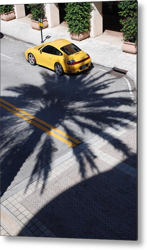 Porsche Metal Print featuring the photograph Palm Porsche by Rob Hans