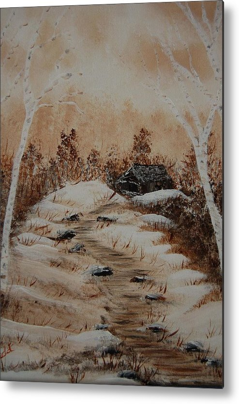 Acrylics Metal Print featuring the painting Pathway To Freedom by Laurie Kidd