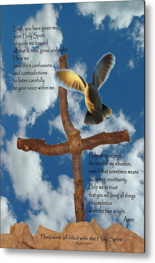 Pentecost Metal Print featuring the photograph Pentecost Holy Spirit Prayer by Robyn Stacey