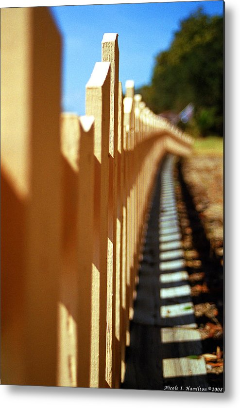 Fence Metal Print featuring the photograph Picket Fence by Nicole I Hamilton