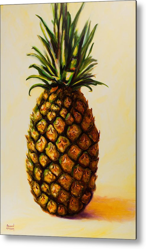 Pineapple Metal Print featuring the painting Pineapple Angel by Shannon Grissom