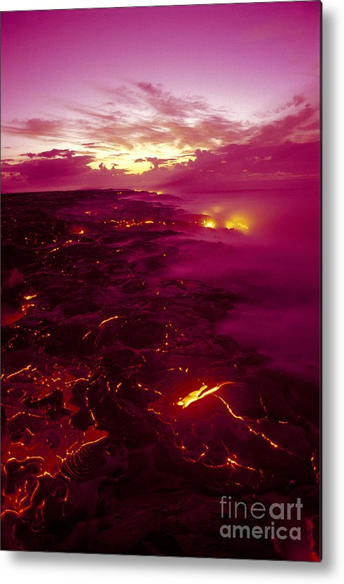 2003va Earlier Metal Print featuring the photograph Pink Volcano Sunrise by Ron Dahlquist - Printscapes