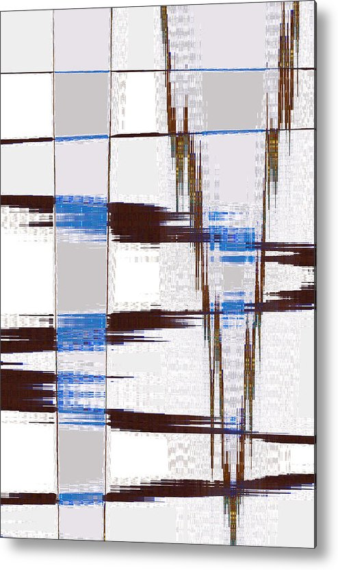 Abstract Metal Print featuring the digital art Quiet Abstract by Lenore Senior