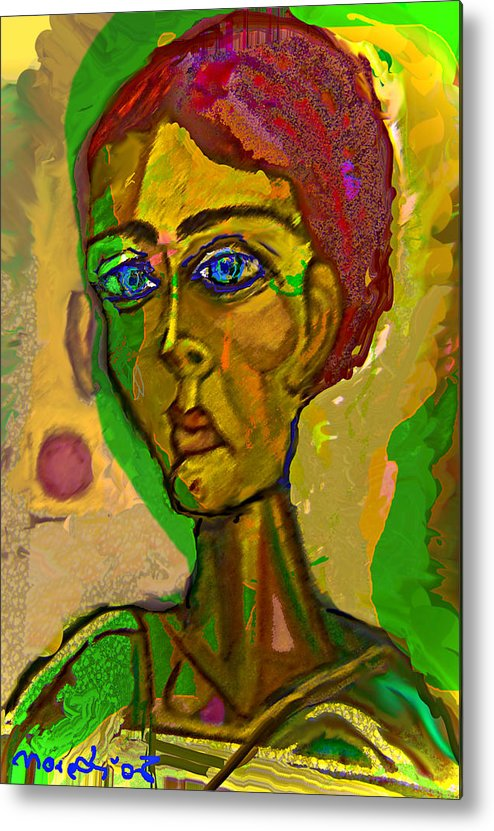 Red Metal Print featuring the painting Red Blue And Green by Noredin Morgan