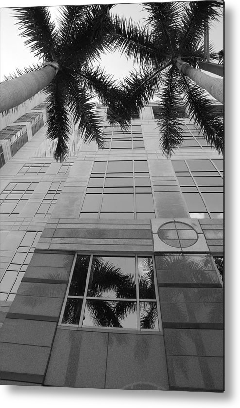 Architecture Metal Print featuring the photograph Reflections On The Building by Rob Hans