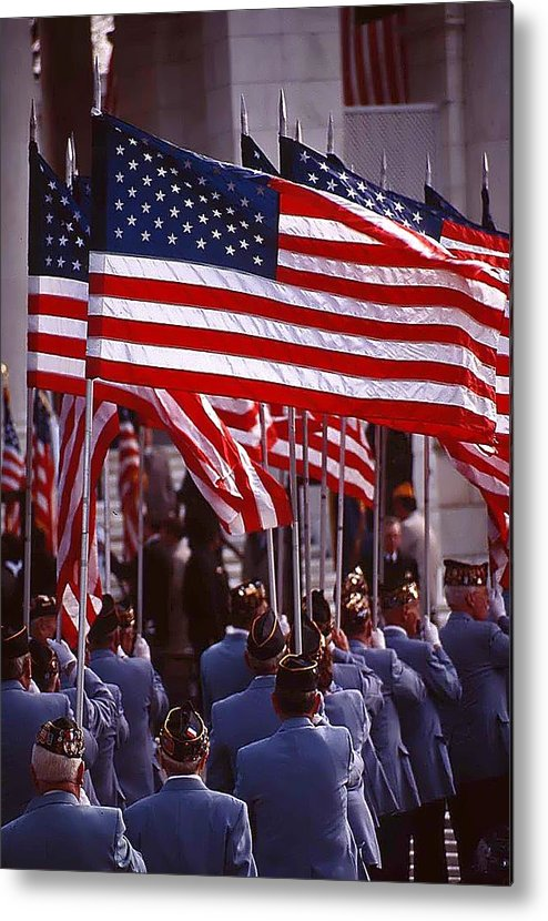 Flags Metal Print featuring the photograph Remembering Heroes by Bill Jonscher