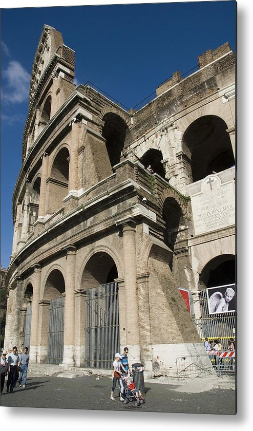 Coliseum Metal Print featuring the photograph Roman Coliseum by Charles Ridgway