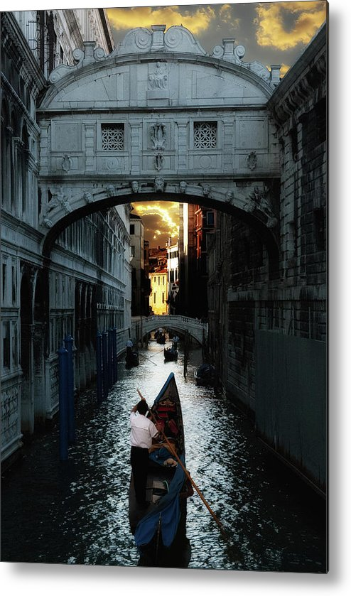 Venice Metal Print featuring the photograph Romantic Venice by Harry Spitz