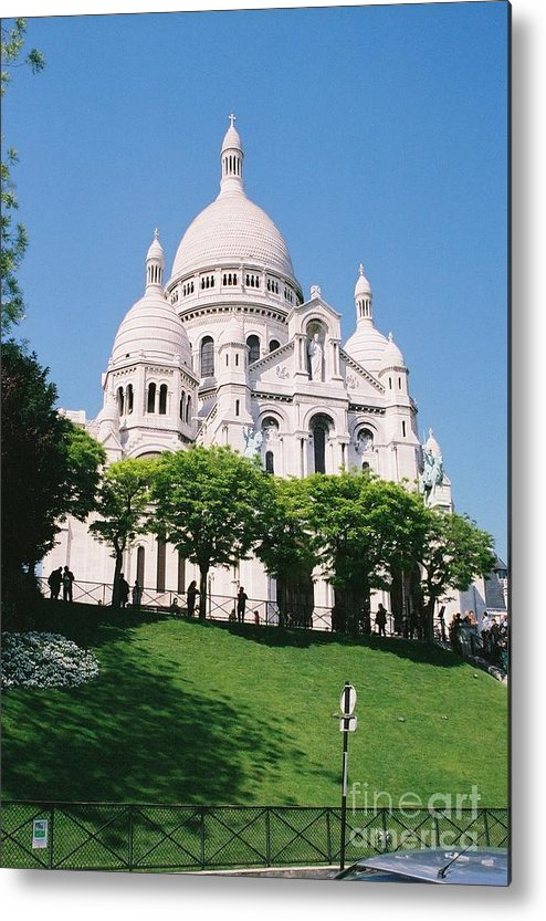 Church Metal Print featuring the photograph Sacre Coeur by Nadine Rippelmeyer