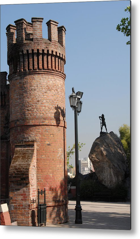 Red Castle Metal Print featuring the photograph Santiago by Charles Ridgway