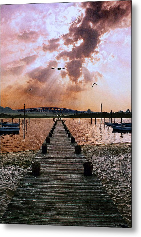Seascape Metal Print featuring the photograph Seaside by Steve Karol