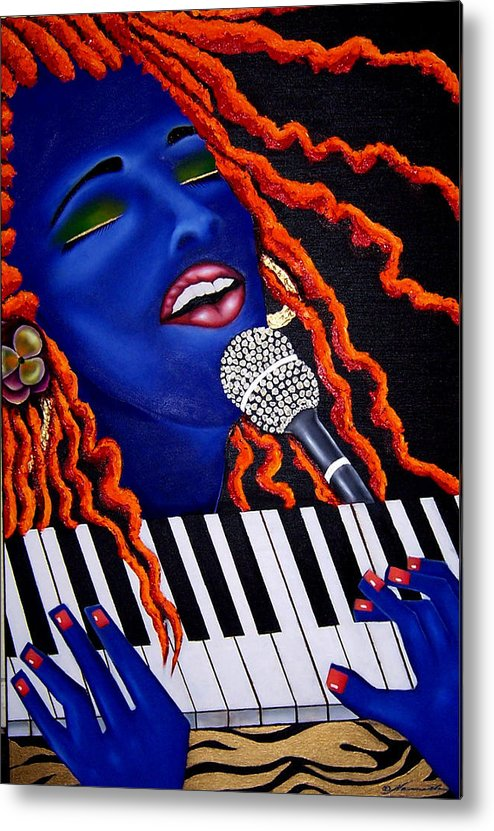Portrait Metal Print featuring the painting She's Magic by Nannette Harris